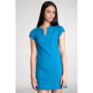 DVF turquoise Valda wool sheath dress 4